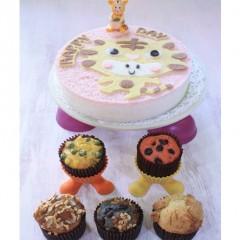 캐릭터 떡케익N 쌀머핀 (상차림3호)[나만의 탄생 커스텀 케이크를 사면 피규어가 덤~!홈파티가 즐겁다♬] ※백일, 돌상구매시 퀵&소화물배송 권장!