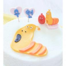 우리아이 생일날N 애벌레 레드와 옐로우의 라밤바떡케익