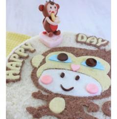 우리아이 생일날N 탄생케익 (원숭이띠)[나만의 선택! 생일파티N 캐릭터 피규어가 덤인ㅋ 탄생축하 커스텀 케이크]