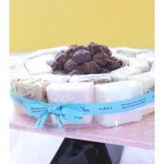 수수팥 설기케익 (상차림1호)[떡먹고 알떡먹고~ 간결한 엄마표 백일상에 딱인! 가성비케이크]