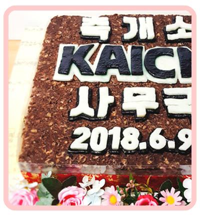 기업떡케이크도 원하는대로 맞춤디자인~! 축개소 케이크 [ 대한간호사협회 주문제작 케이크 ] (전화주문)
