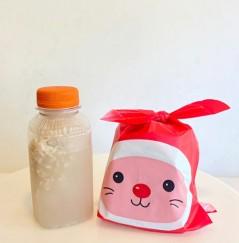 방앗간음료와 쌀로만 만든 소화가잘되는[ 100% 쌀식빵 답례 ] ( 최소구매수량 24set)